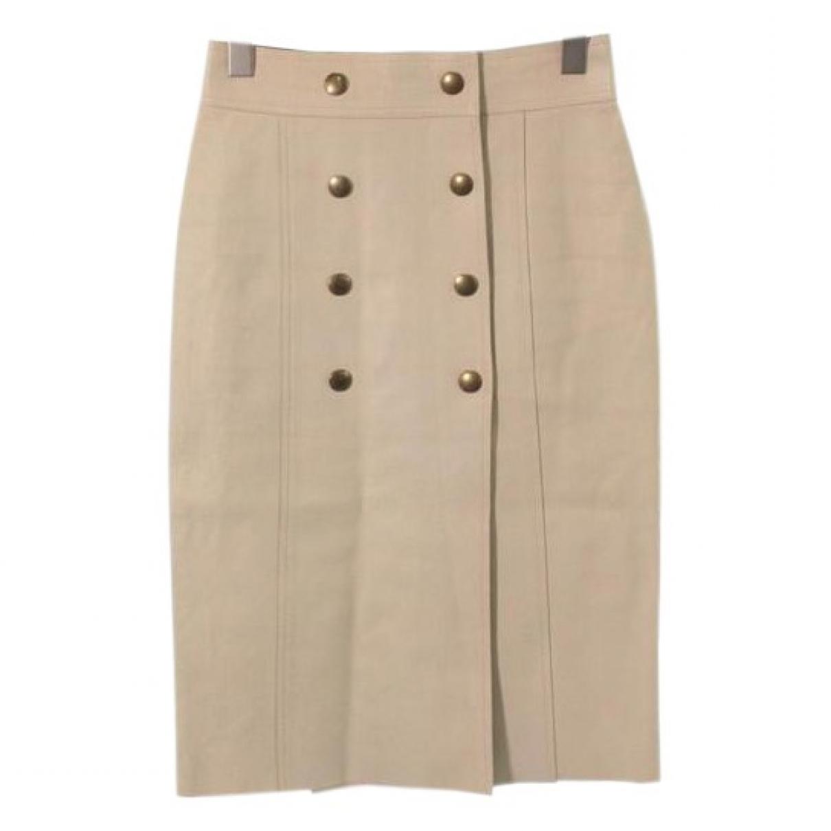 Louis Vuitton - Jupe   pour femme en cuir - beige