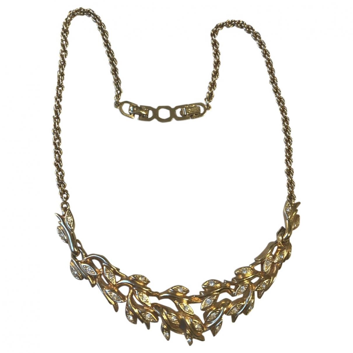 Dior - Collier   pour femme en cristal - dore