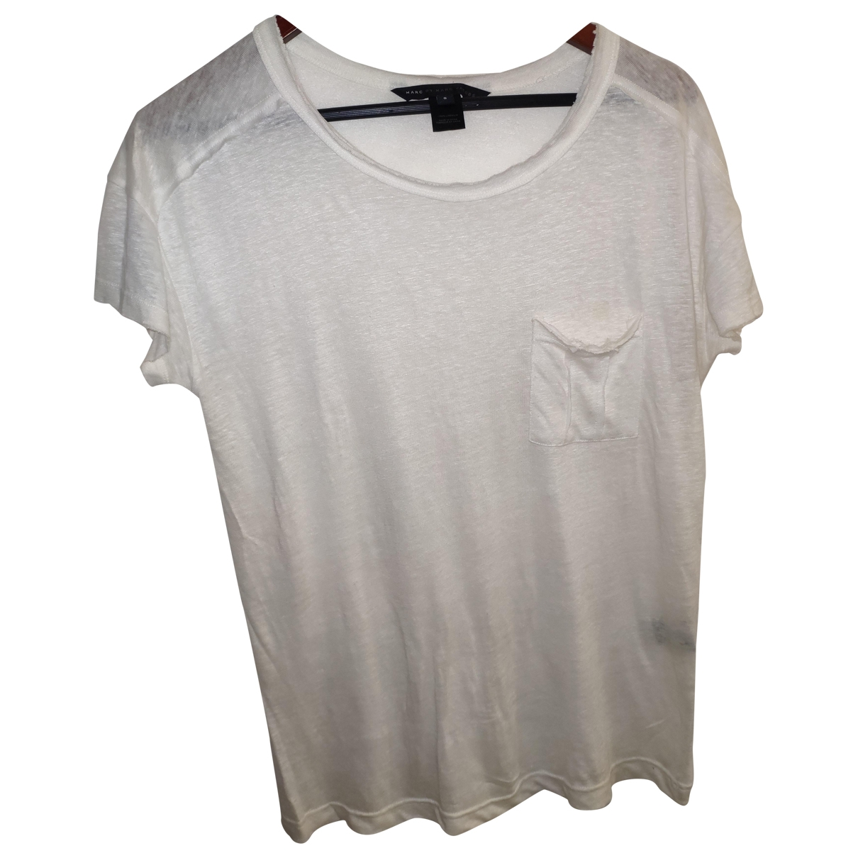 Marc By Marc Jacobs \N White Linen T-shirts for Men S International