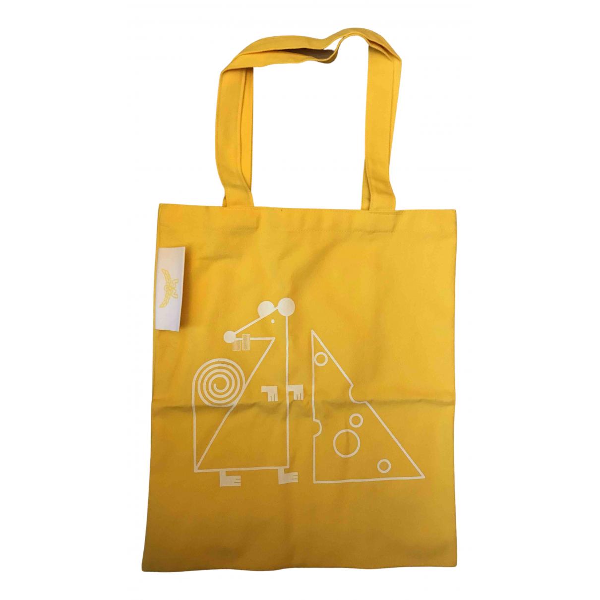 Mcm \N Yellow Cotton handbag for Women \N