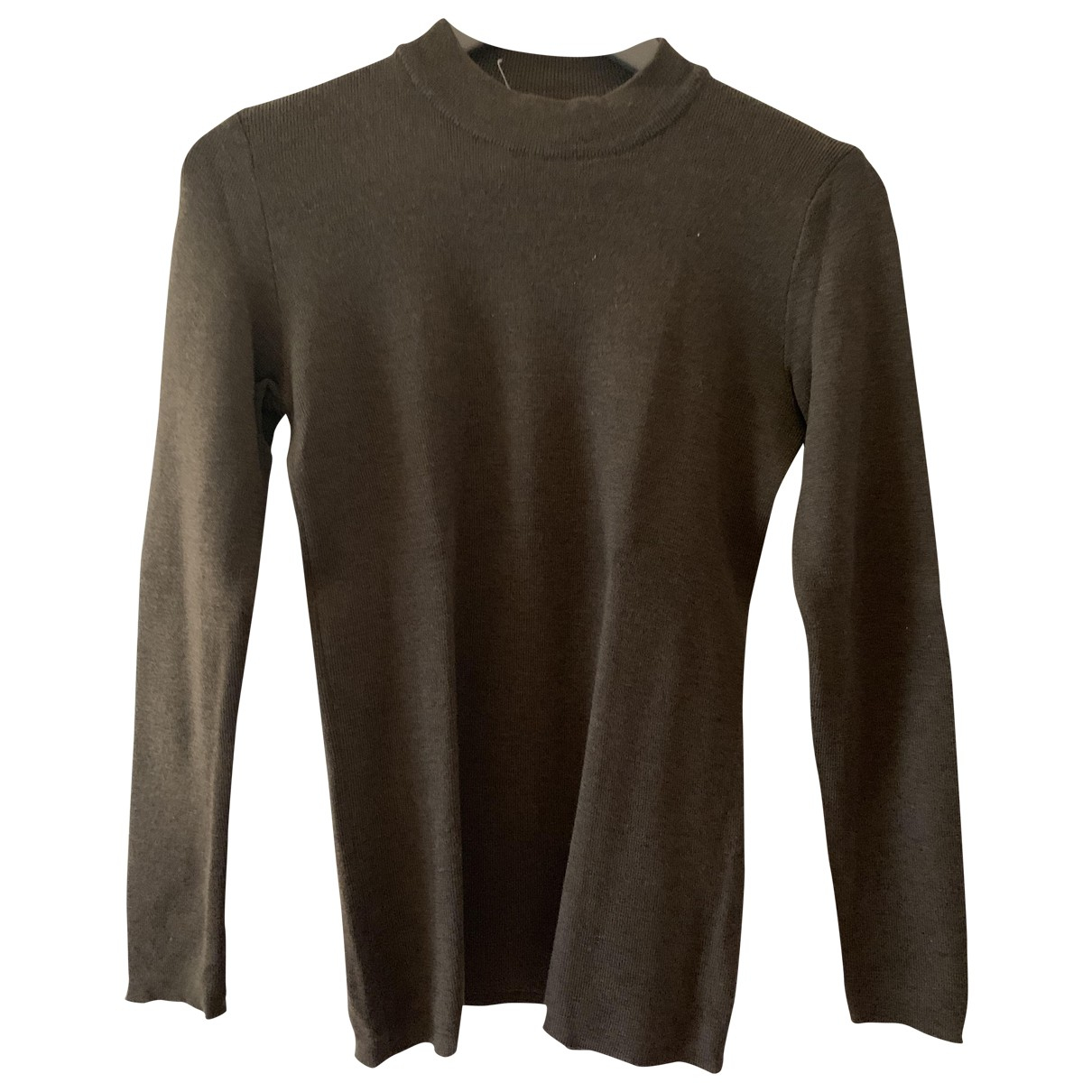 Yves Saint Laurent \N Pullover in  Braun Wolle