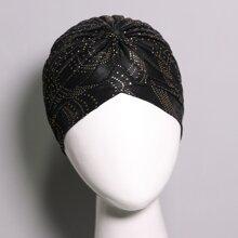 Turban Hut mit heissgepraegtem Muster