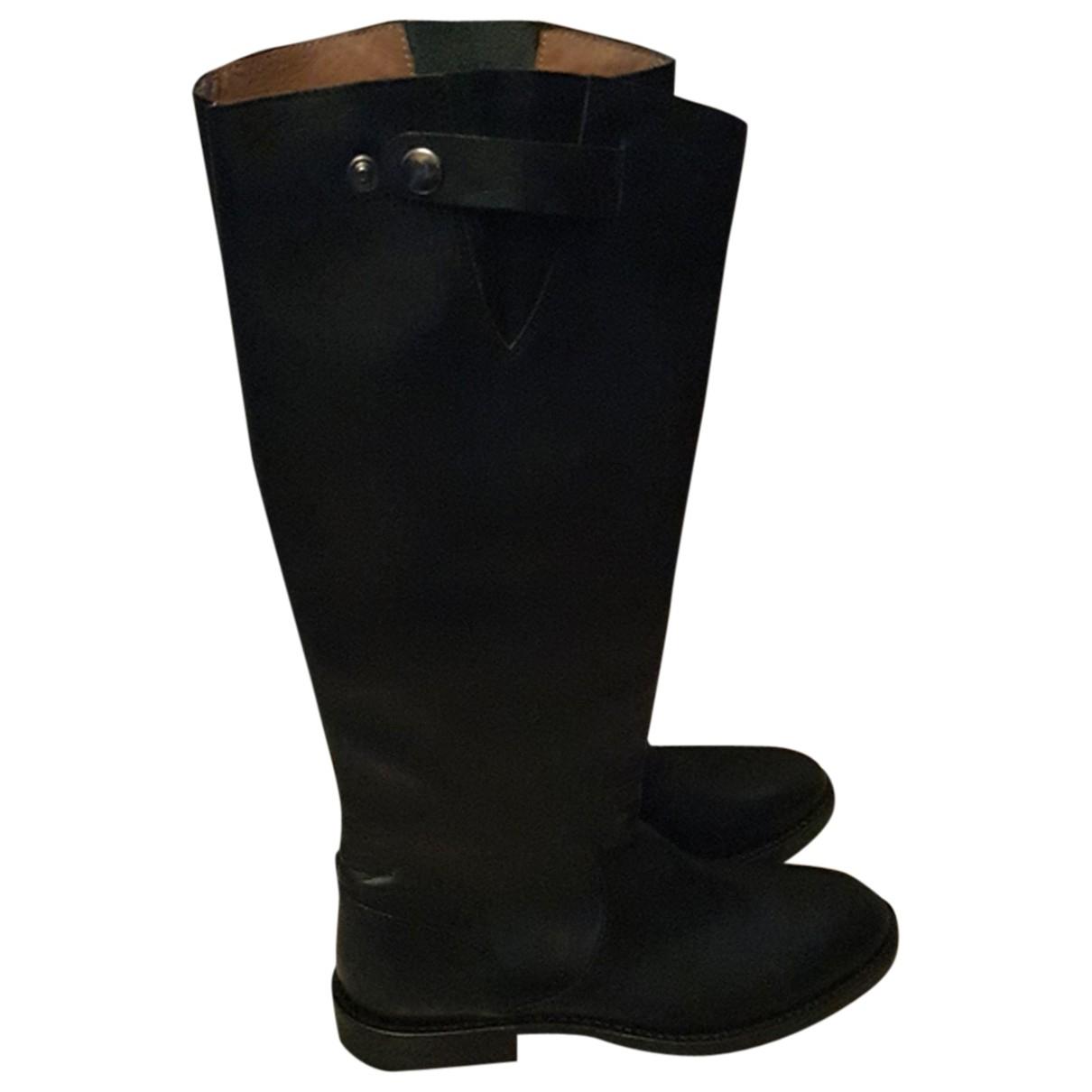Seboys - Bottes   pour femme en cuir - noir