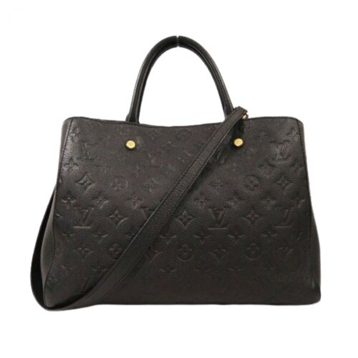 Louis Vuitton Montaigne Black Leather handbag for Women \N
