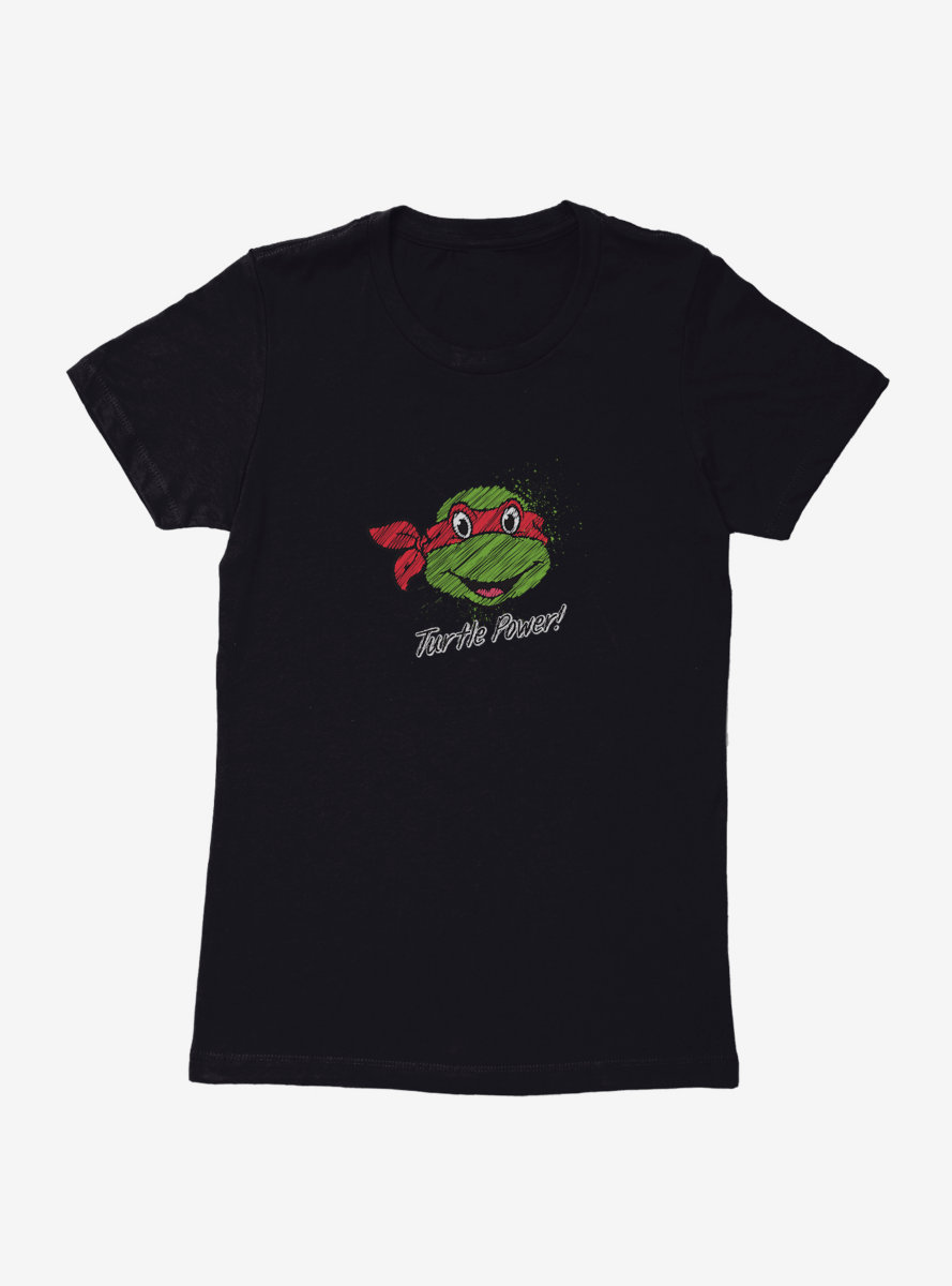 Teenage Mutant Ninja Turtles Chalk Lines Raphael Turtle Power Womens T-Shirt