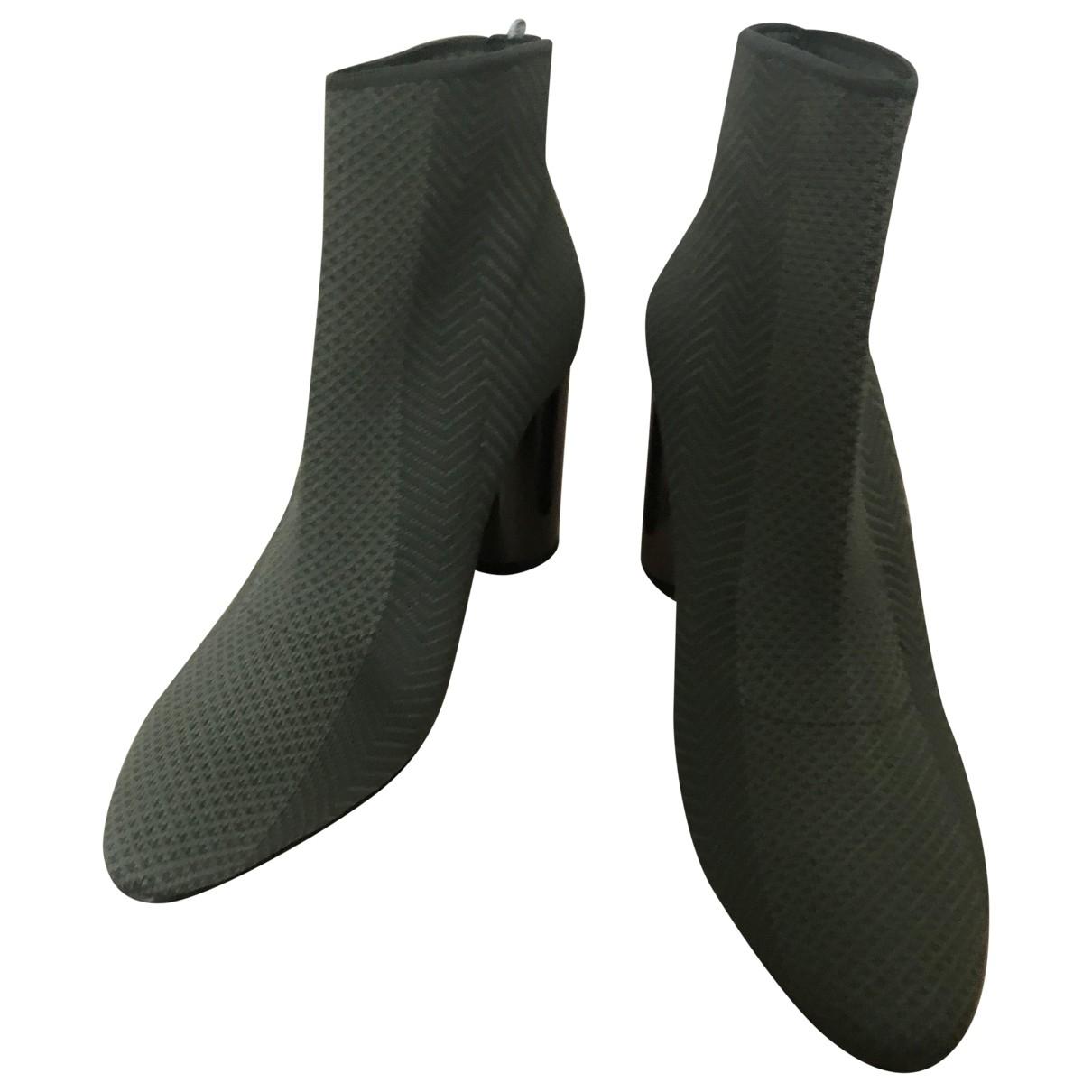 Zara - Boots   pour femme en toile - kaki