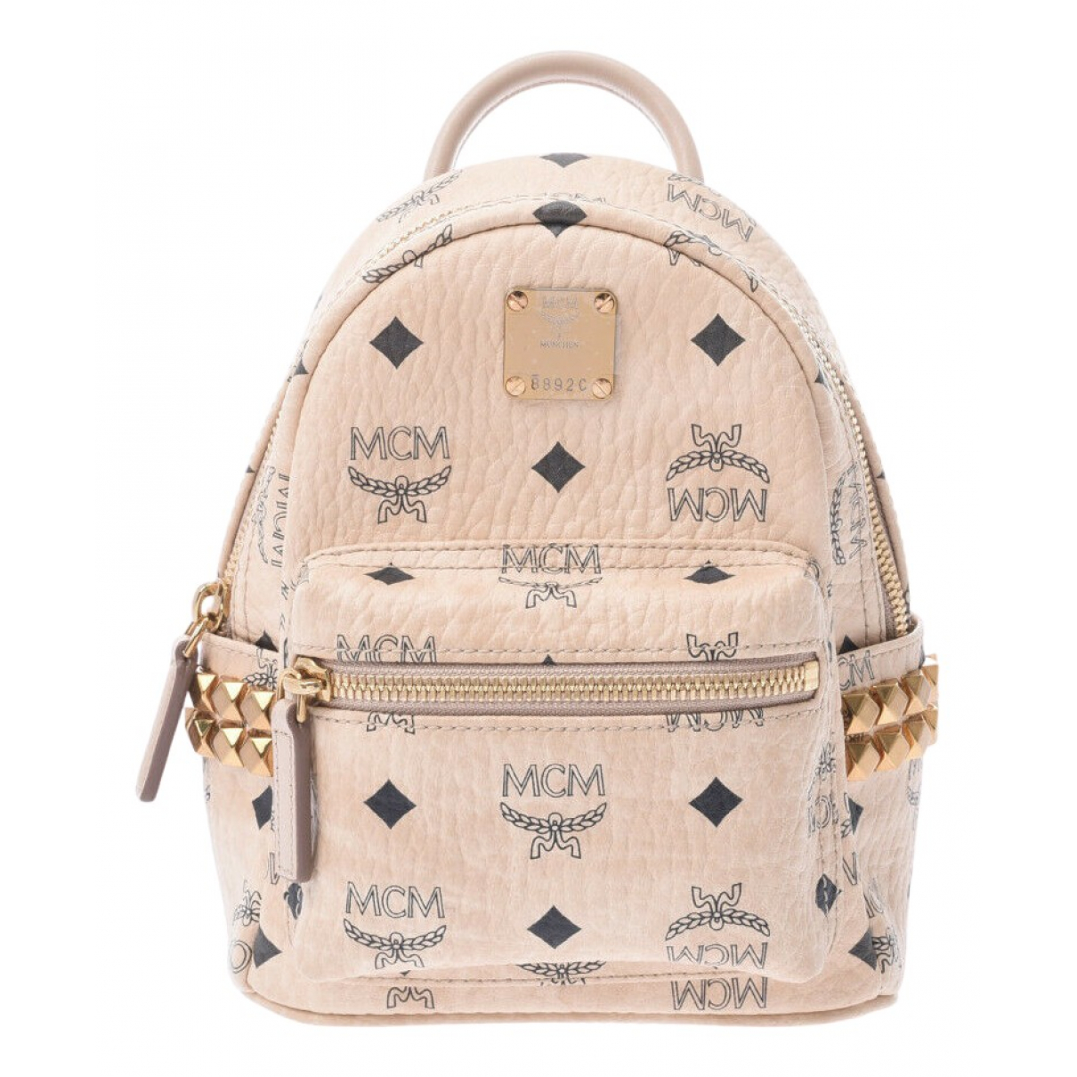 Mcm N Beige Leather backpack for Women N