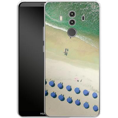 Huawei Mate 10 Pro Silikon Handyhuelle - Beach Umbrellas von Joy StClaire