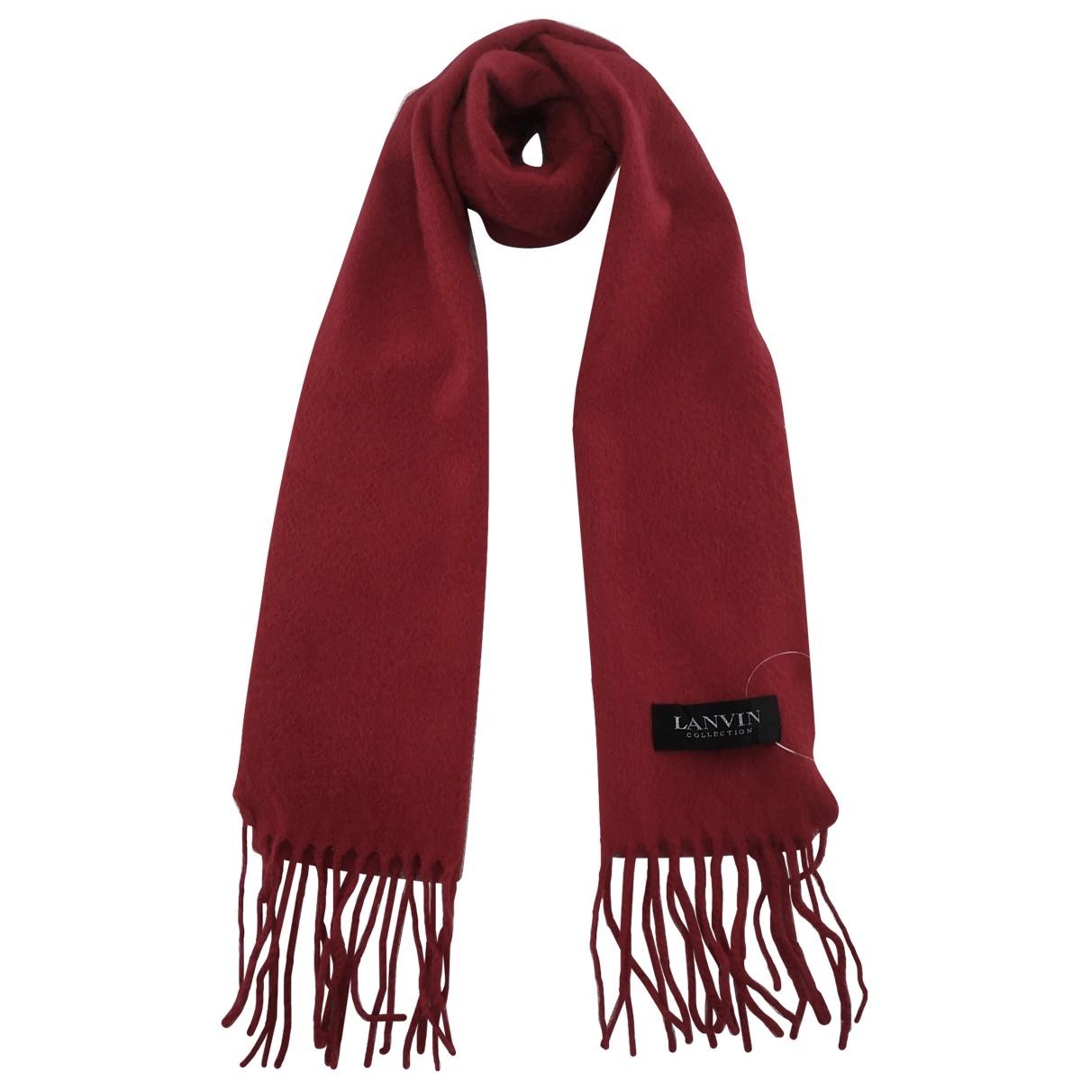 Lanvin - Foulard   pour femme en cachemire - rouge