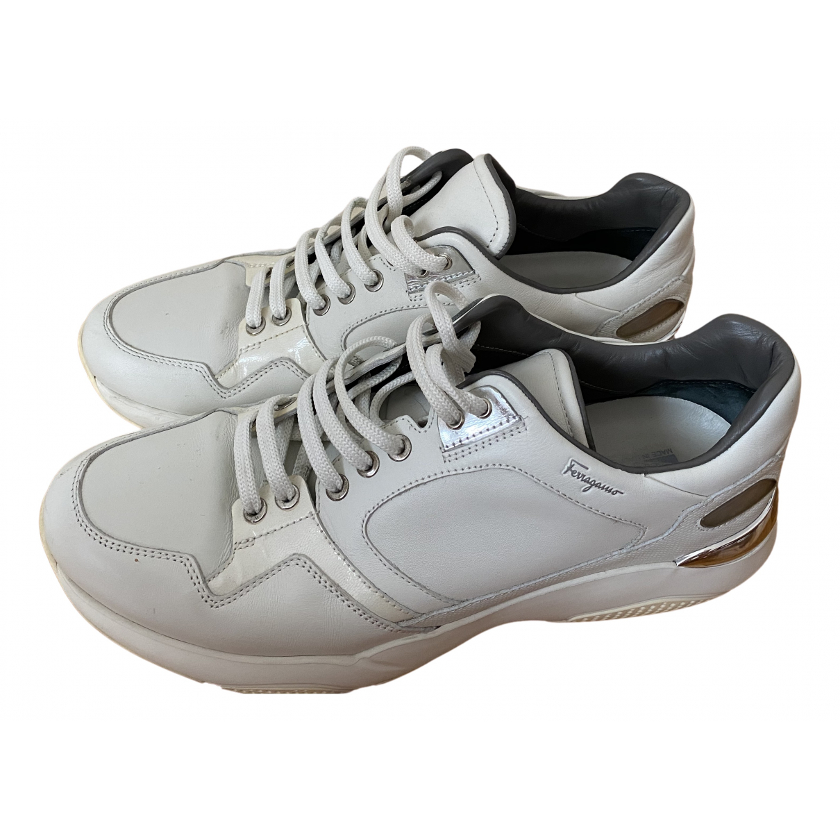 Salvatore Ferragamo \N Sneakers in  Weiss Leder