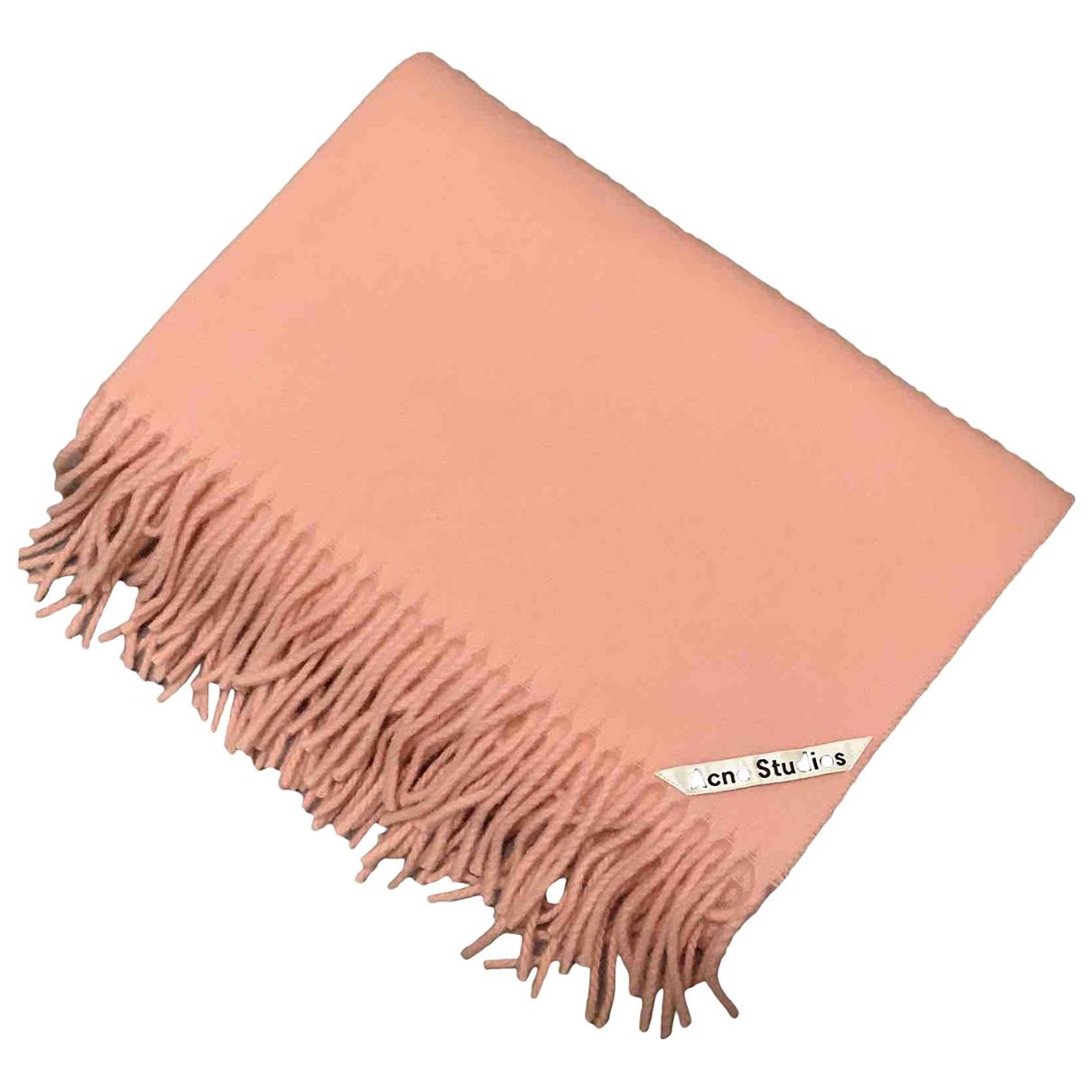 Acne Studios - Foulard   pour femme en laine - rose