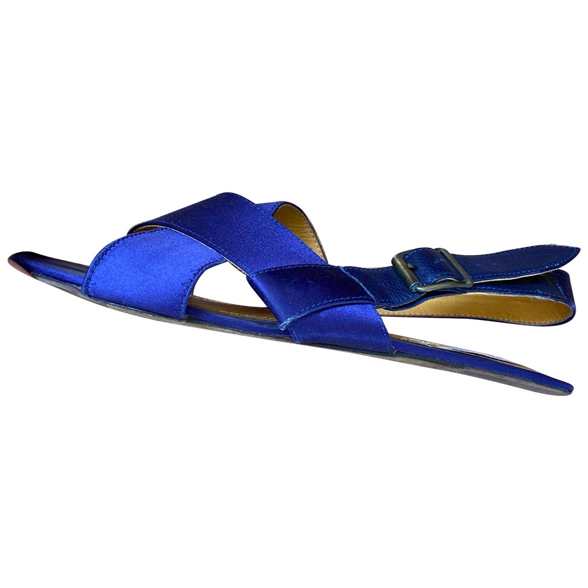 Lanvin - Sandales   pour femme en toile - bleu