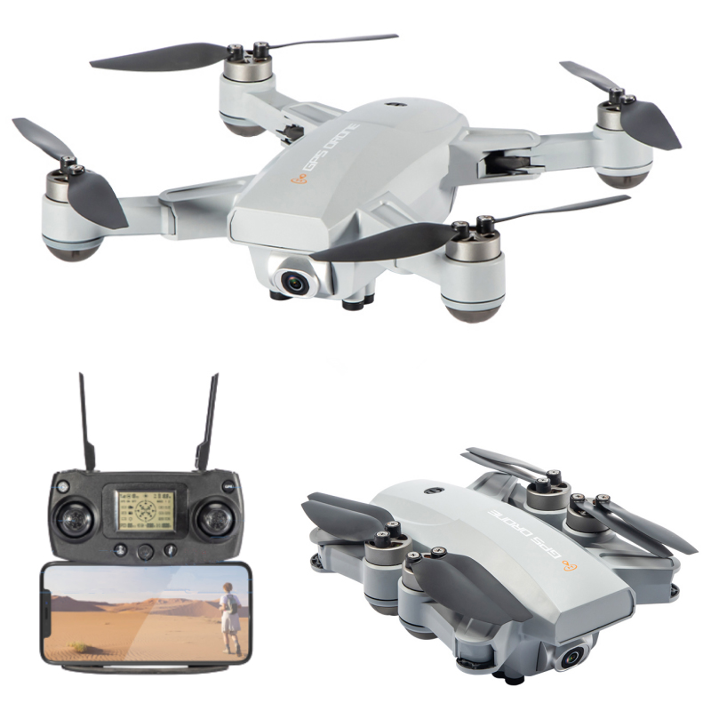 JJRC X16 6K GPS RC Drone Gray Two Batteries with Bag