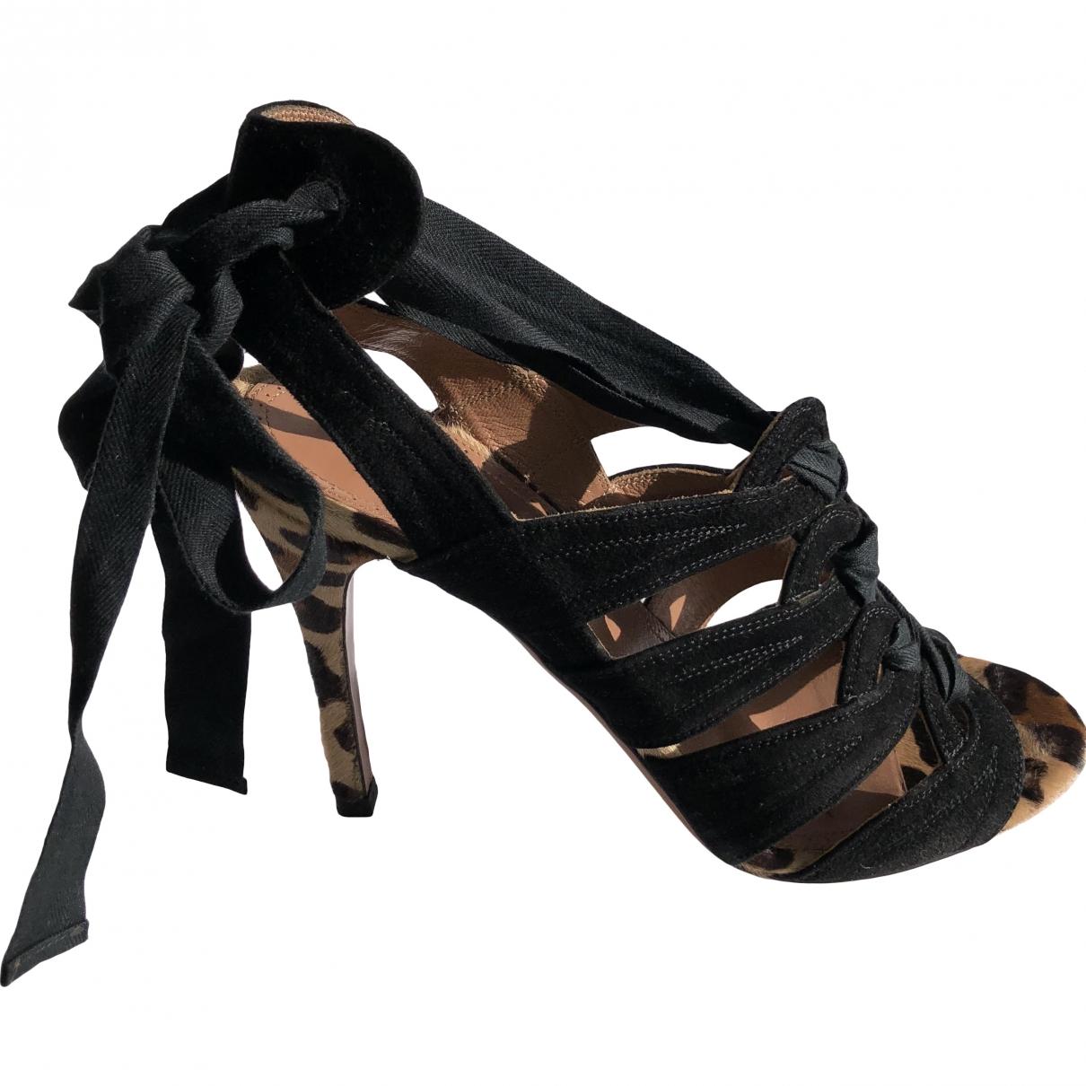 Alaïa \N Black Pony-style calfskin Sandals for Women 39 EU