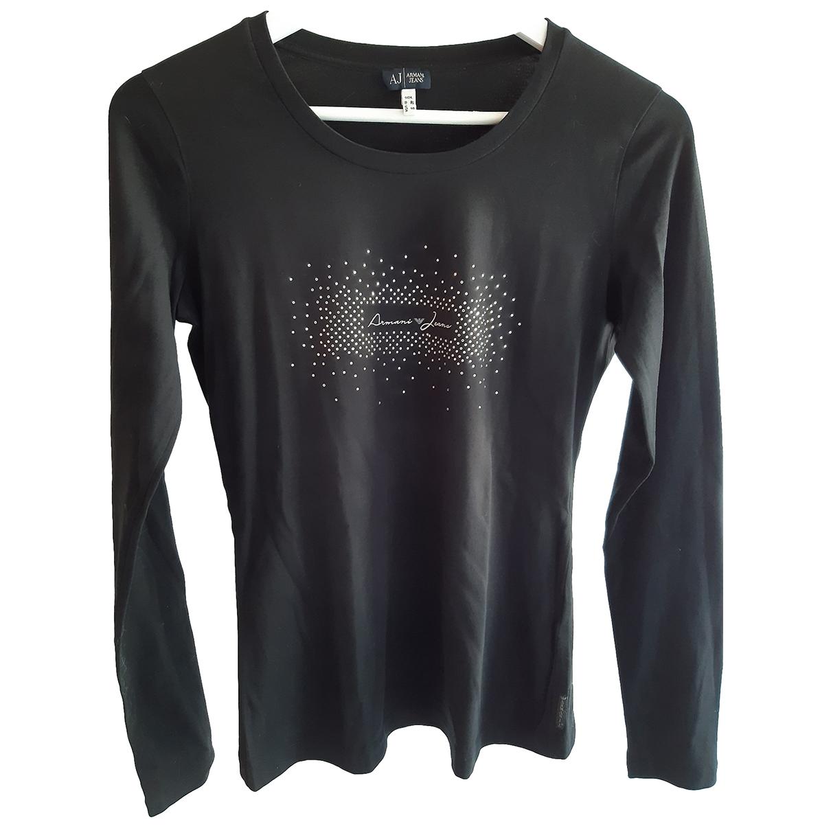 Armani Jeans \N Black Cotton  top for Women 40 FR