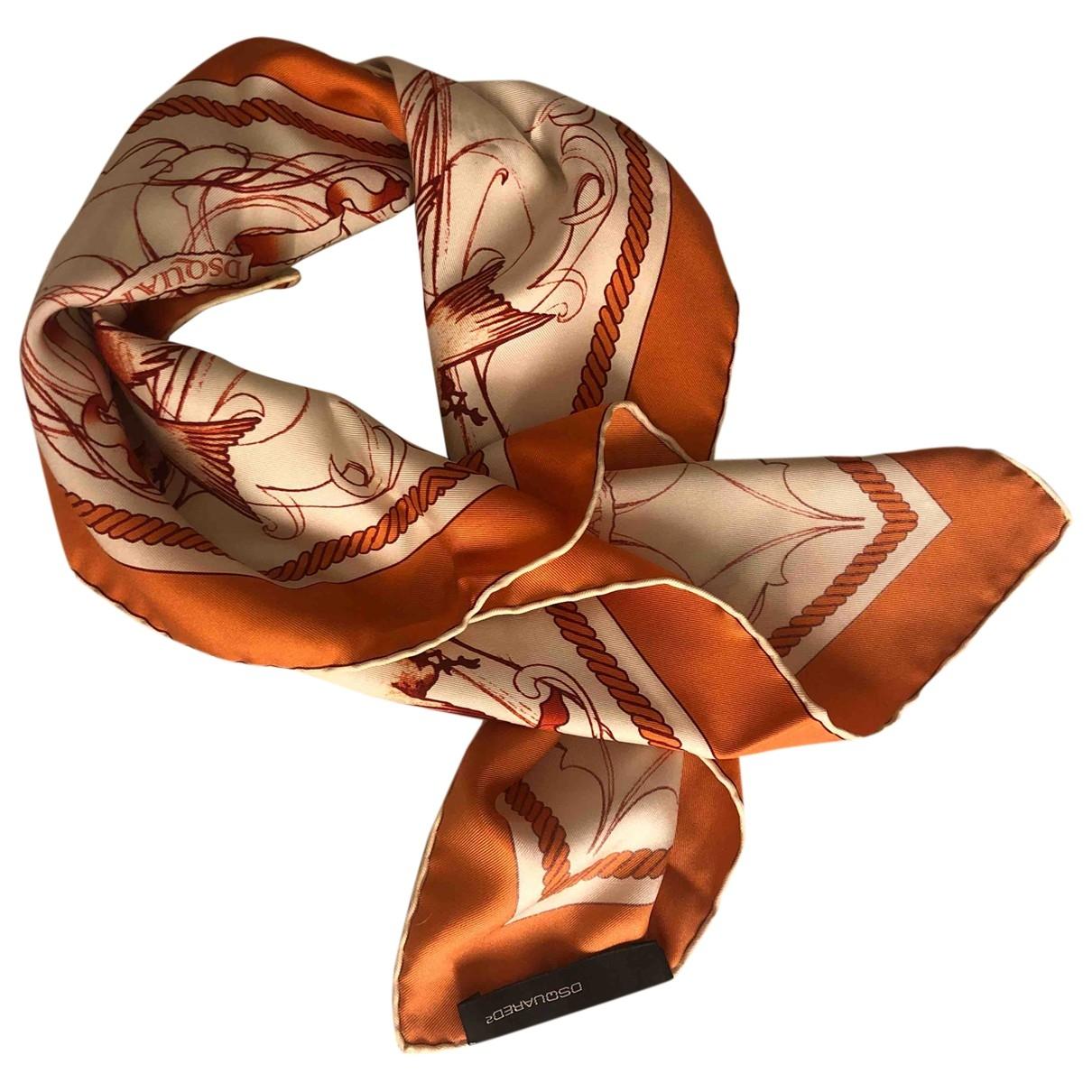 Dsquared2 \N Orange Silk scarf for Women \N