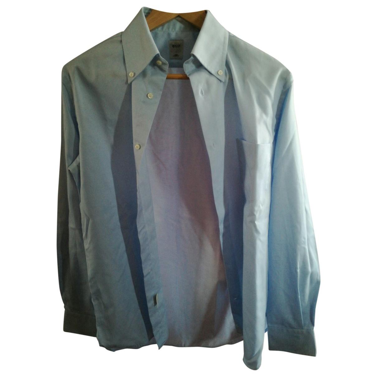 Boggi \N Turquoise Cotton Shirts for Men 39 EU (tour de cou / collar)