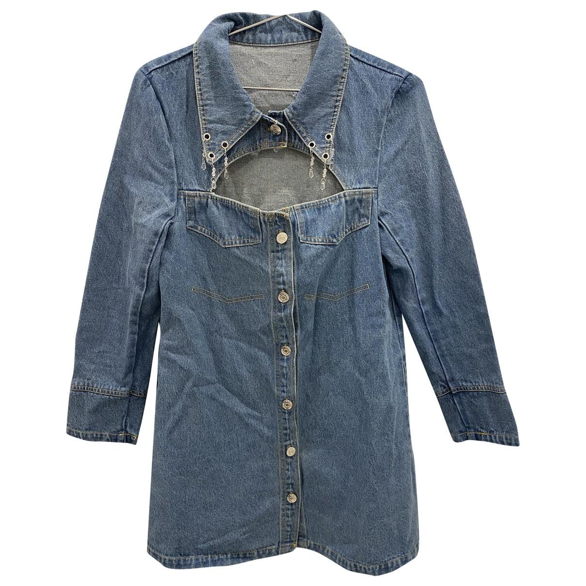 House Of Sunny - Robe   pour femme en coton - bleu