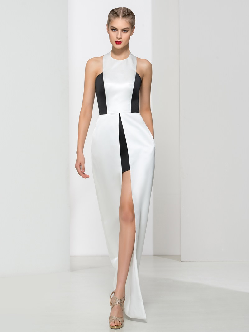 Ericdress Halter Pockets Split-Front Evening Dress