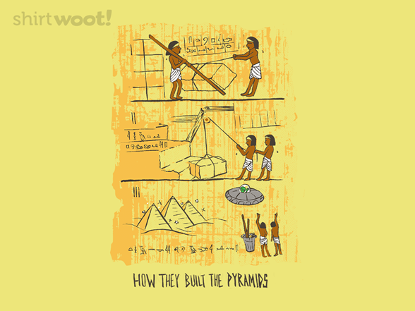How They Built The Pyramids T Shirt
