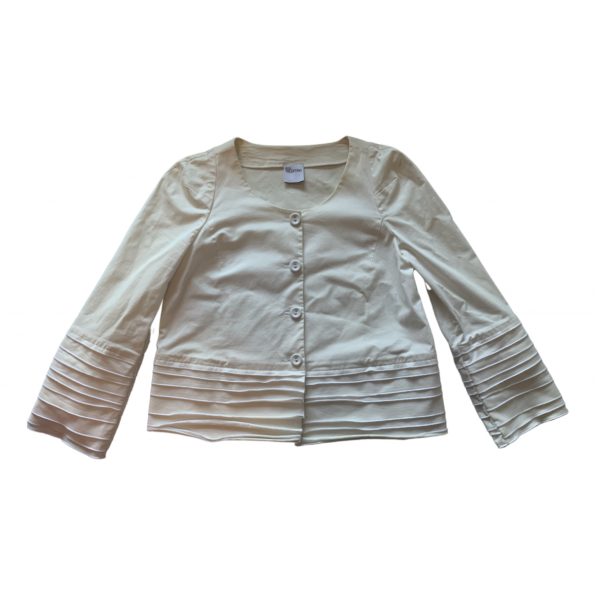 Red Valentino Garavani \N White Cotton jacket for Women 4 US