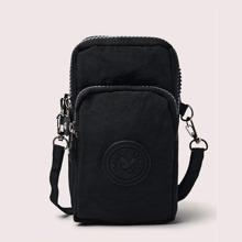 Solid Crossbody Phone Bag