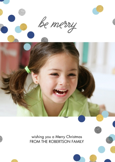 Holiday Photo Cards 5x7 Cards, Standard Cardstock 85lb, Card & Stationery -FCWG_BeMerry_5x7_FlatCard_01