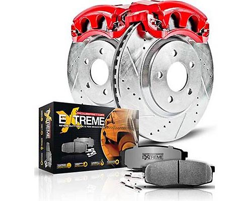Power Stop KC1892-36 Z36 Extreme Performance Truck & Tow Brake Kit w/Calipers Front & Rear KC1892-36