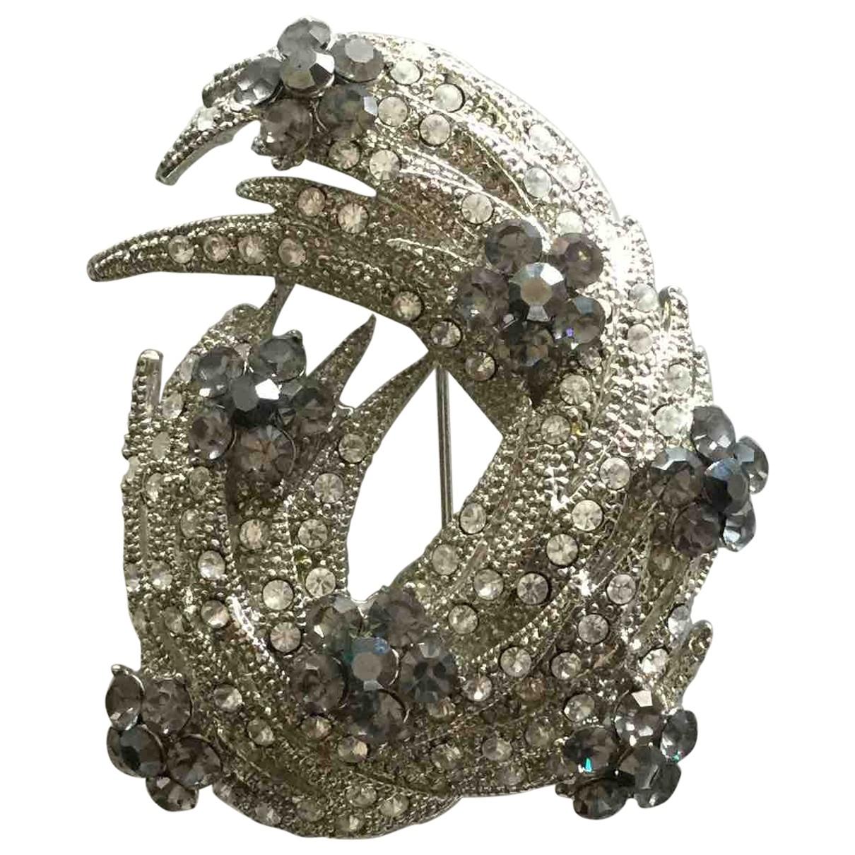 - Broche   pour femme en metal - argente