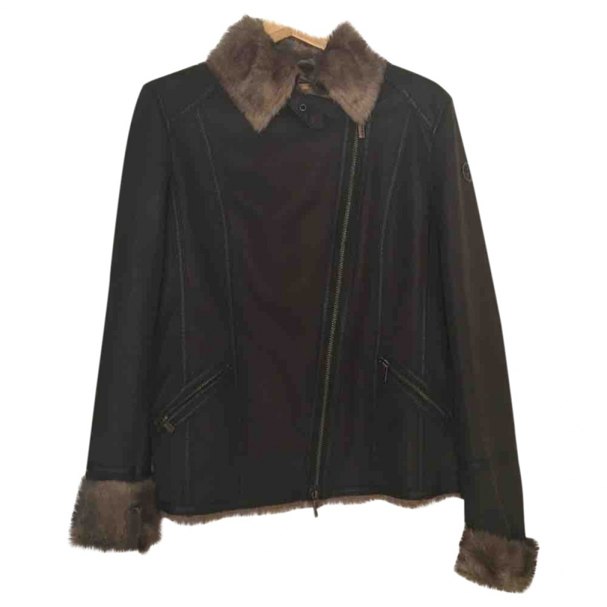 Armani Jeans \N Brown Leather jacket for Women 44 FR
