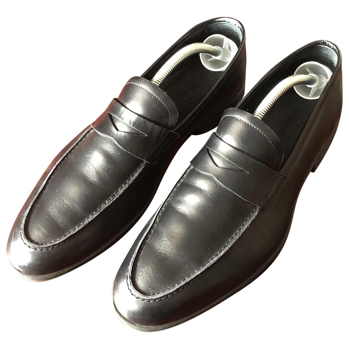 - Mocassins   pour homme en cuir - noir
