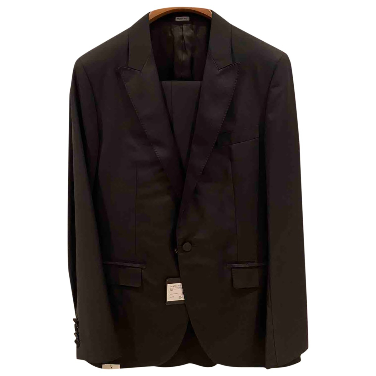 Lanvin \N Navy Wool Suits for Men 50 IT