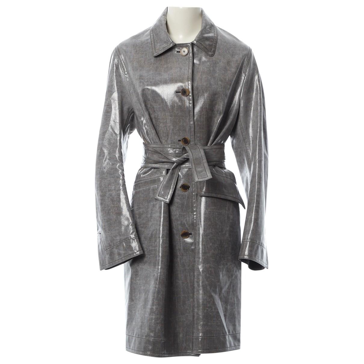 Ports 1961 - Trench   pour femme en laine - gris