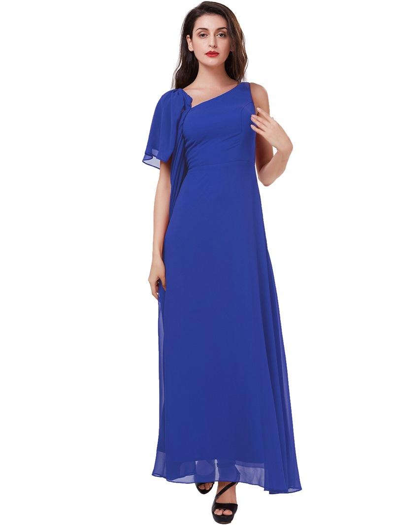 Ericdress V-Neck Beading Ruffles Empire Waist Prom Dress