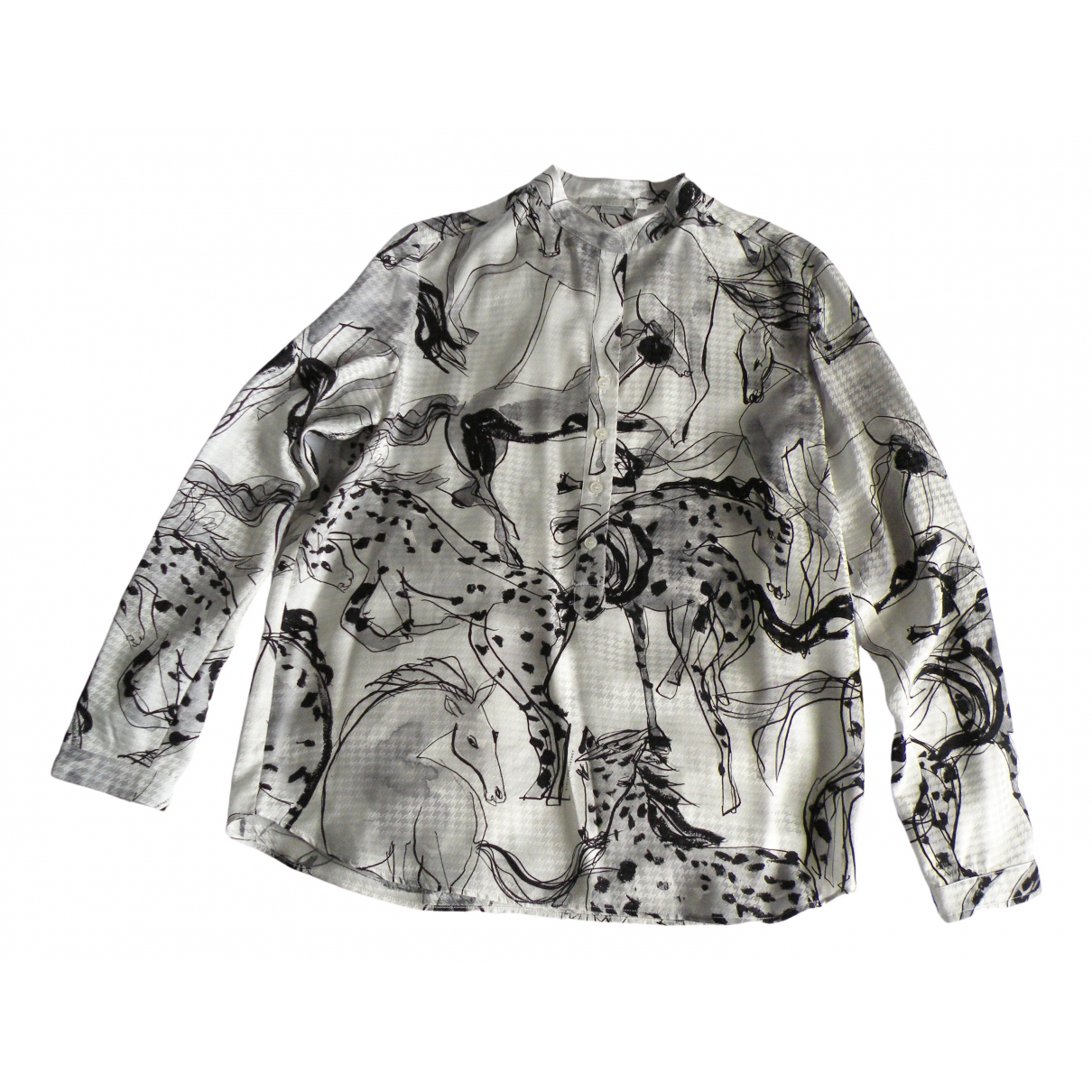 Stella Mccartney \N Top in  Weiss Seide