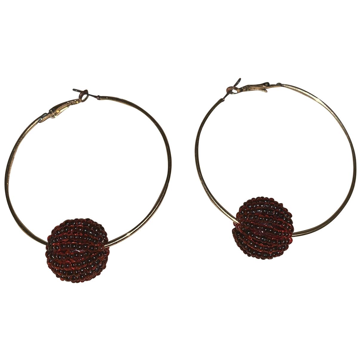 - Boucles doreilles Art Deco pour femme - rouge