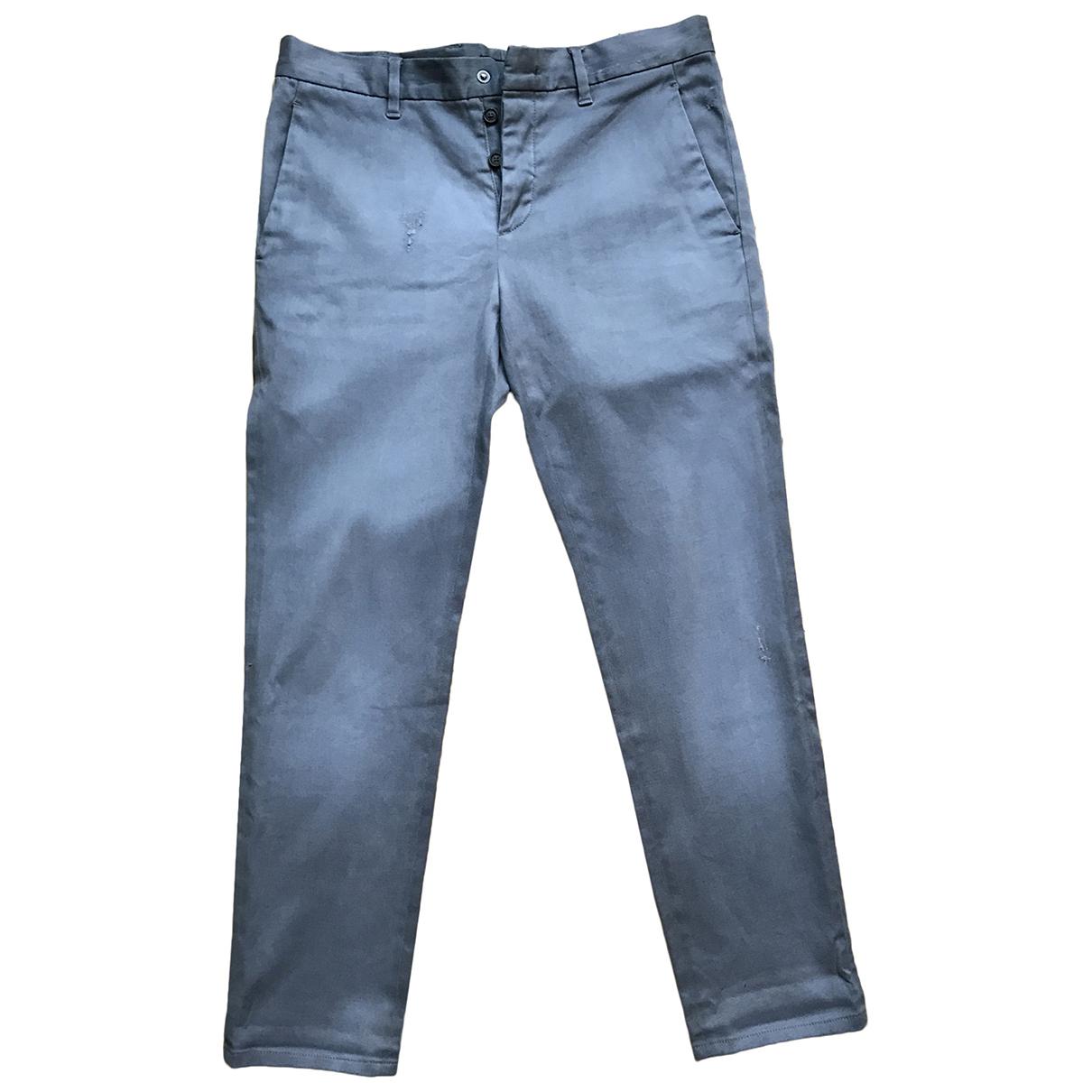 Prada N Blue Cotton Trousers for Men 34 UK - US