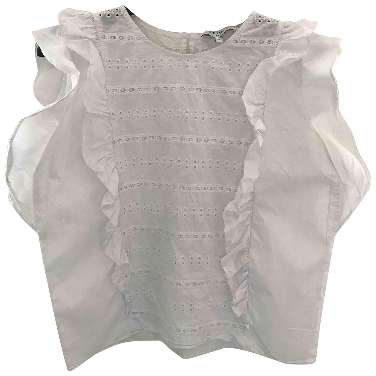 Balzac Paris - Top   pour femme en coton - blanc