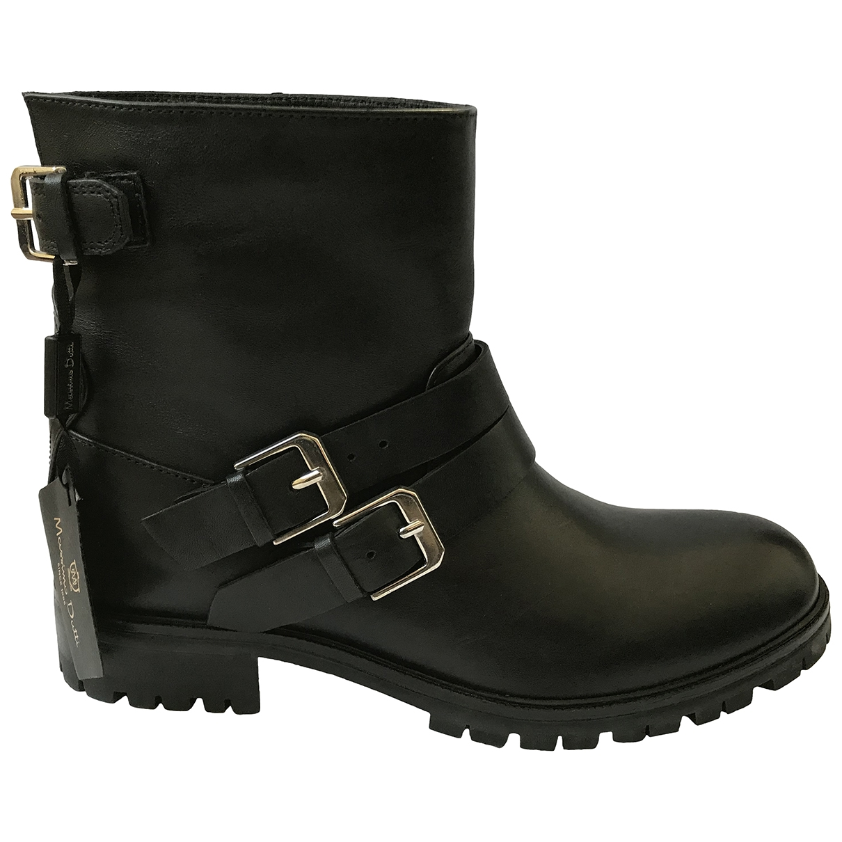Massimo Dutti \N Black Leather Boots for Women 37 EU