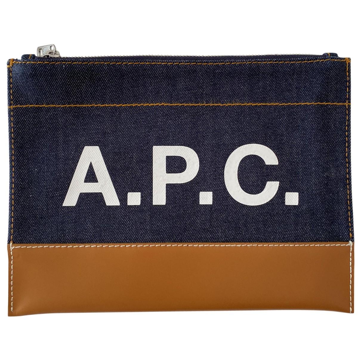 Apc - Pochette   pour femme en denim - bleu