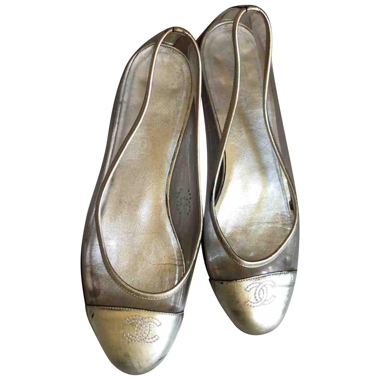 Chanel \N Silver Ballet flats for Women 37 EU