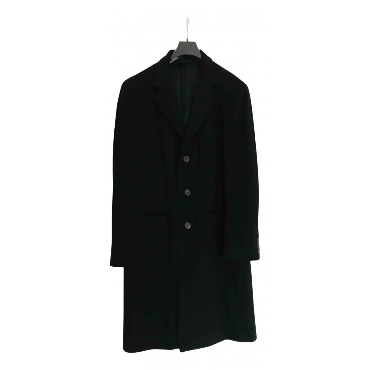Balmain N Black Wool coat  for Men 48 IT
