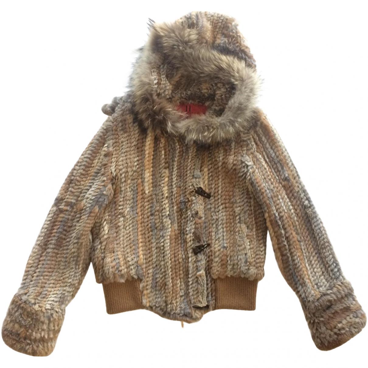 Carolina Herrera - Manteau   pour femme en lapin - multicolore