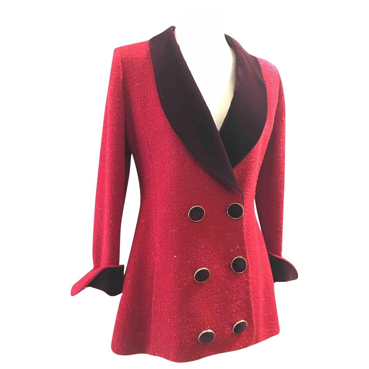 Karl Lagerfeld - Veste   pour femme en laine - rouge