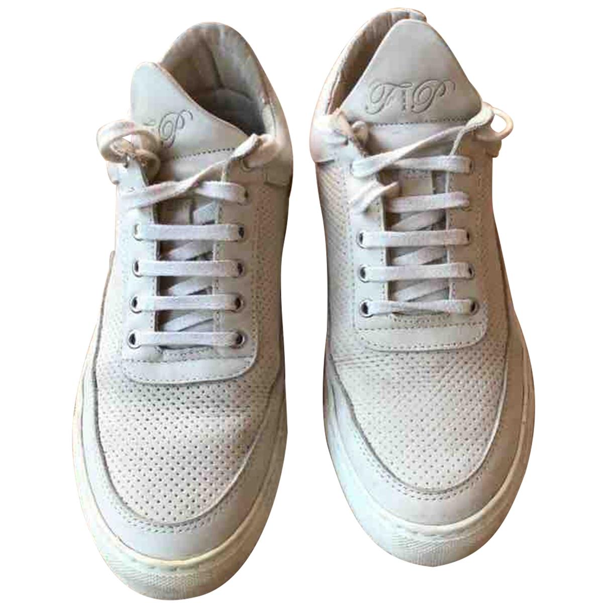 Filling Pieces \N Sneakers in  Beige Leder