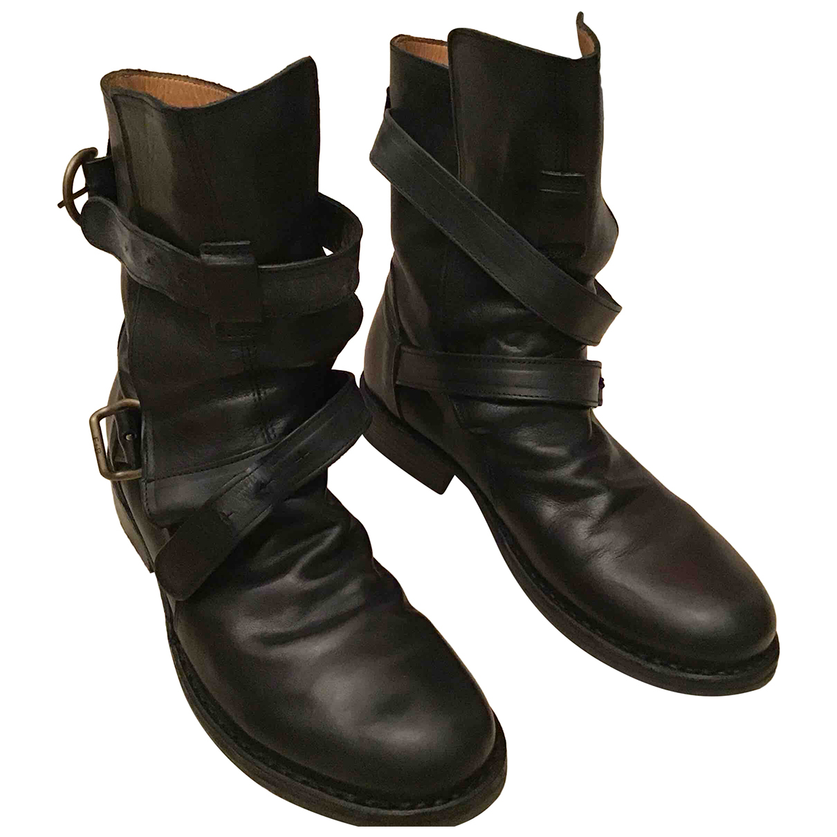 Fiorentini+baker N Black Leather Ankle boots for Women 38 EU