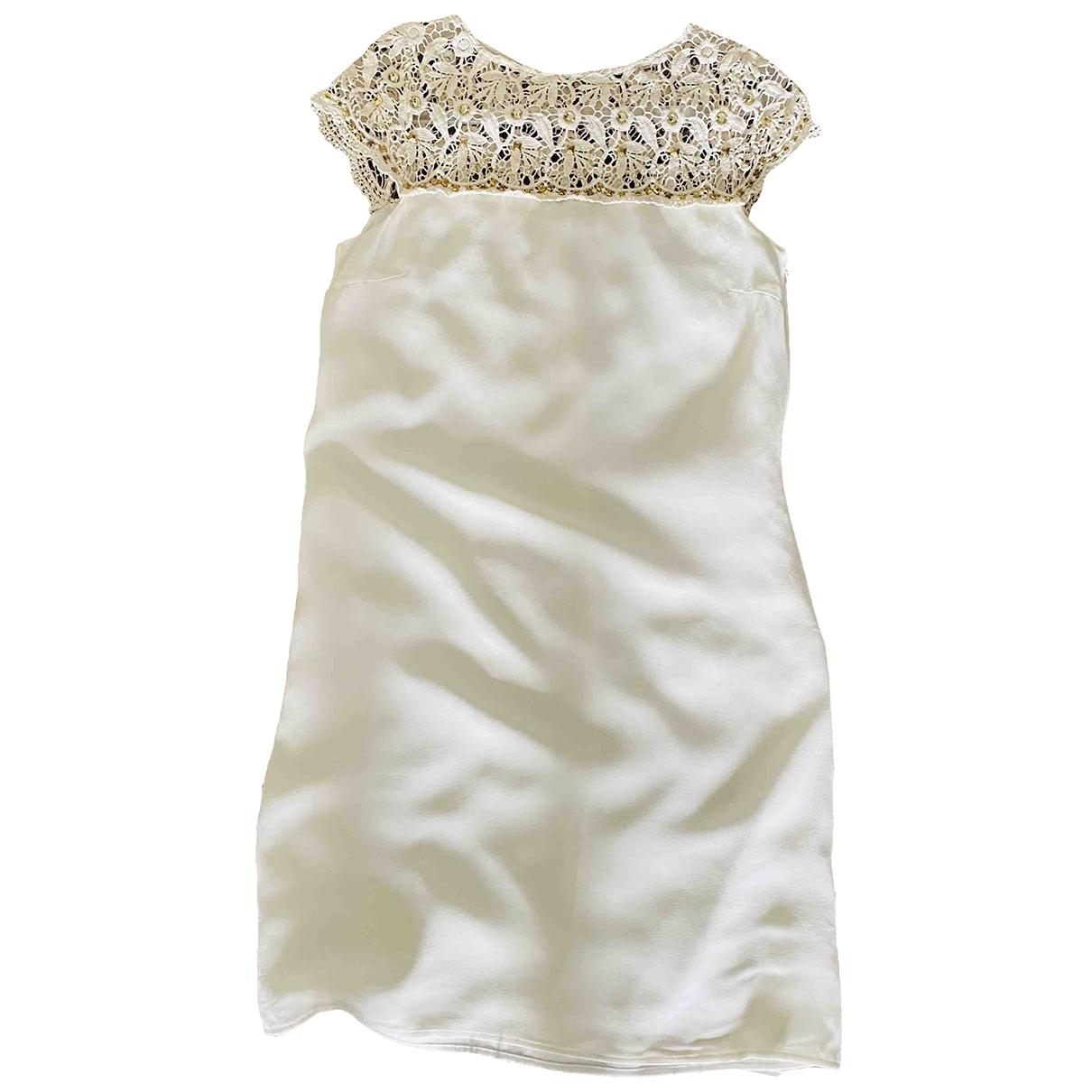 Hallhuber \N White Silk dress for Women S International