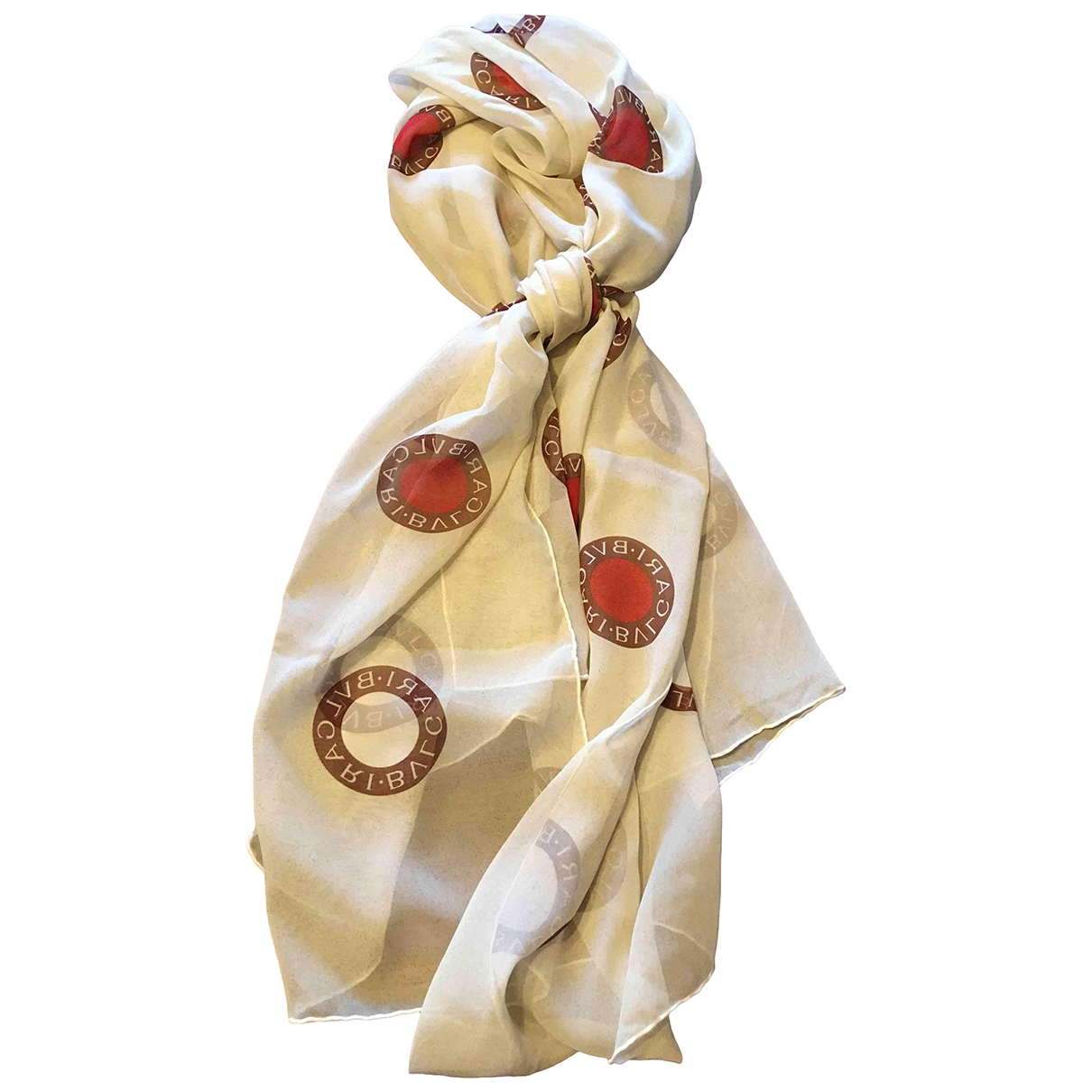 Bvlgari \N Beige Silk scarf for Women \N