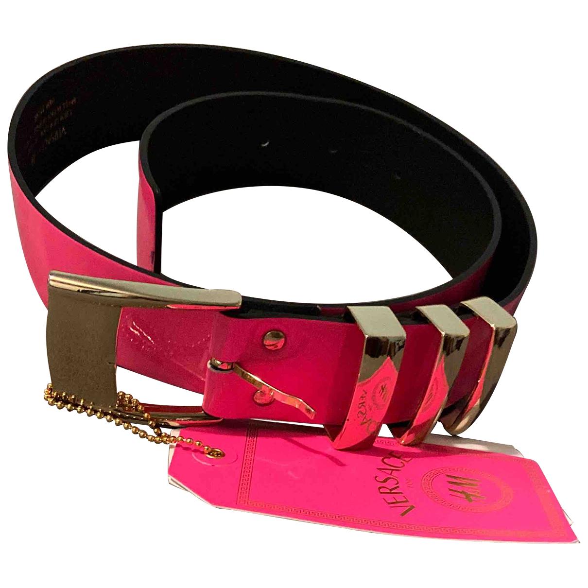 Versace X H&m \N Pink Patent leather belt for Women M International
