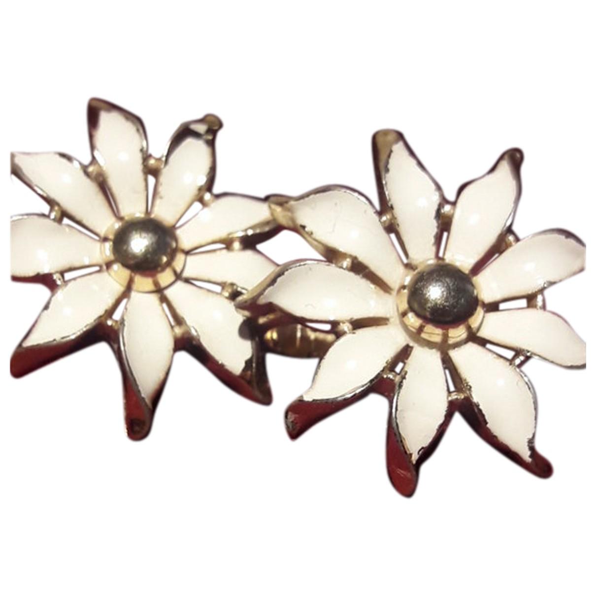 Trifari - Boucles doreilles   pour femme en autre - blanc